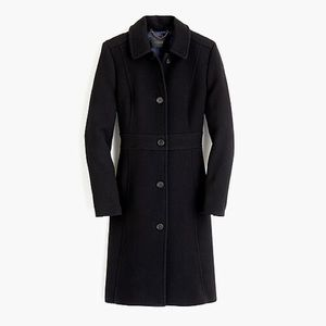 J Crew Lady Coat with Thinsulate Size 6, Black